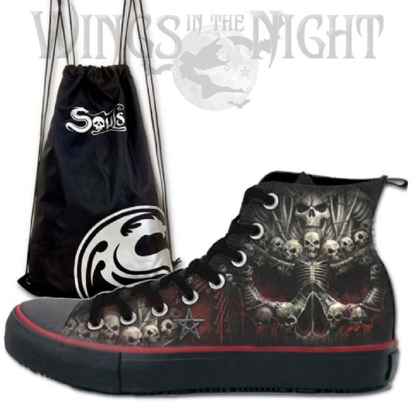 SPIRAL DIRECT Death Bones Men's High Top Sneakers